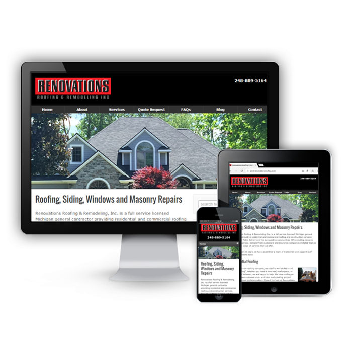Renovations Roofing & Remodeling, Inc. Announces New Website