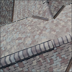 Ridge attic vents on roof