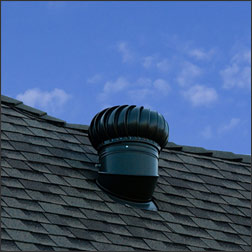 Roof with turbine attic vent